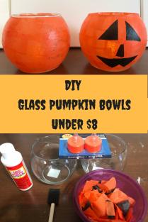 DIY Glass Pumpkin BowlsUnder $8