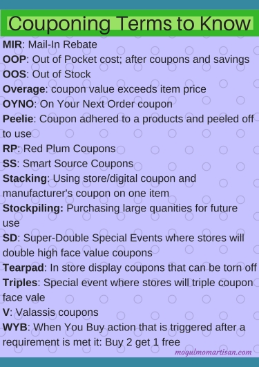 Couponing Terms to Know (1)